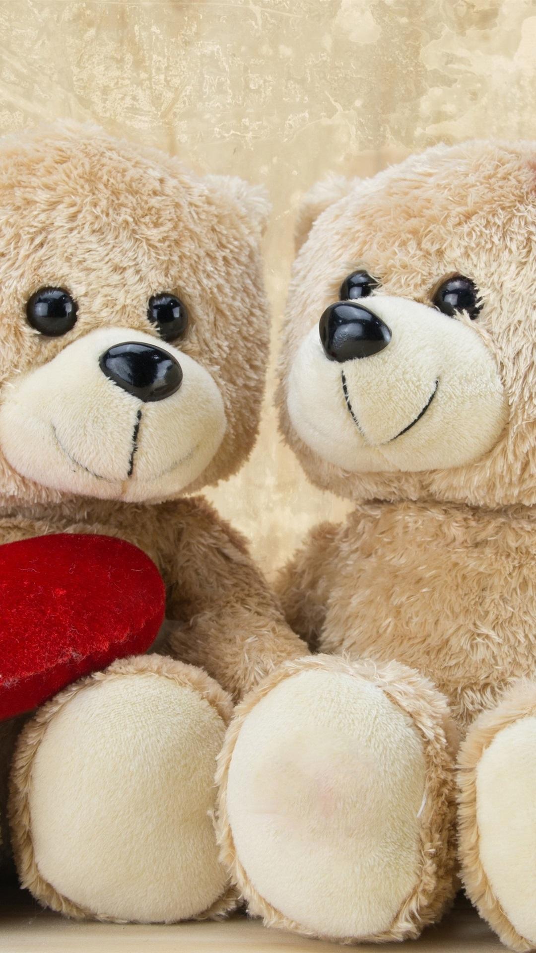 Teddy Bears Romantic Love Heart 1080x1920 Iphone 8 7 6 6s Plus