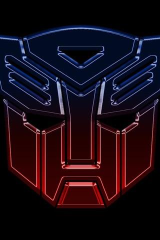iPhone Hintergrundbilder Transformers Logo, schwarzer Hintergrund