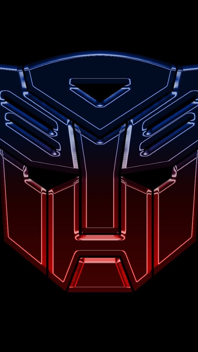 Transformers Logo Black Background 640x1136 Iphone 55s5c