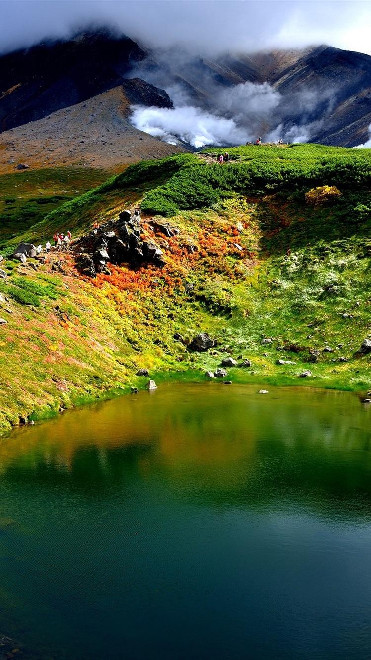 壁纸火山 湖 山 烟 北海道 日本2880x1800 Hd 高清壁纸 图片 照片