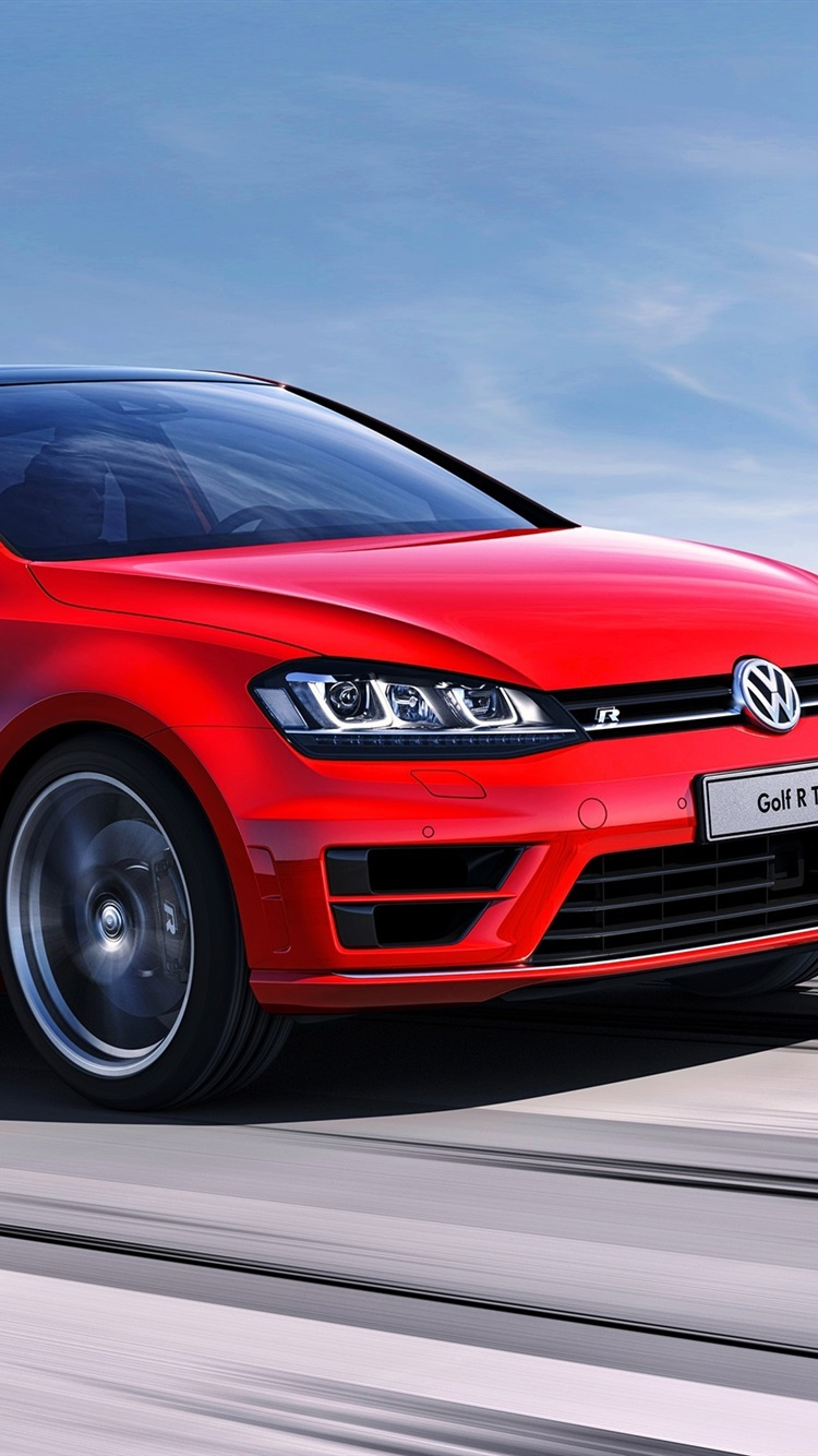Volkswagen Golf R Concept Red Car Speed 750x1334 Iphone 8 7 6 6s Wallpaper Background Picture Image