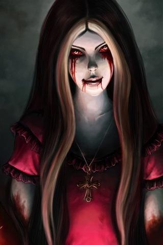 iPhone Papéis de Parede Alice Madness Returns, sangue, faca