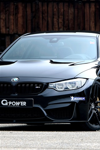iPhone Wallpaper BMW G-Power F82 black coupe