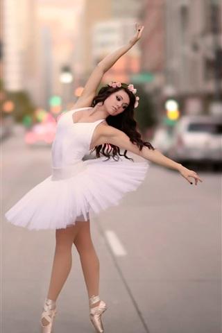 Wallpaper Ballerina Dancing At City Street 1920x1440 Hd Picture Image