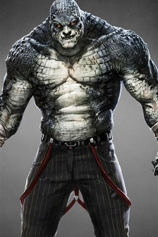 iPhone Papéis de Parede Batman: Origens Arkham, Killer Croc