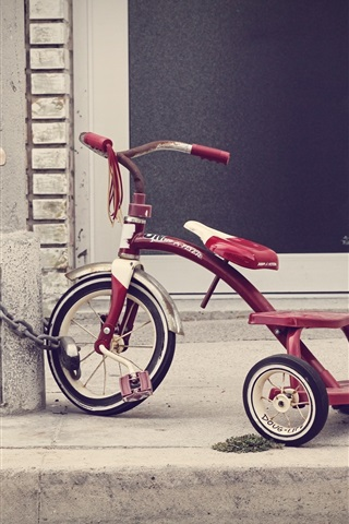 iPhone Wallpaper Children toy, tricycle