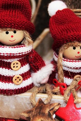 iPhone Wallpaper Christmas decoration, elves toys