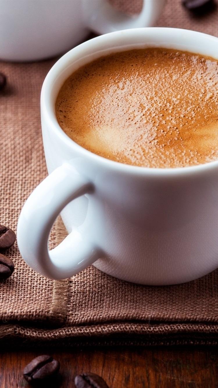 コーヒー豆 コーヒー1杯 750x1334 Iphone 8 7 6 6s 壁紙 背景 画像