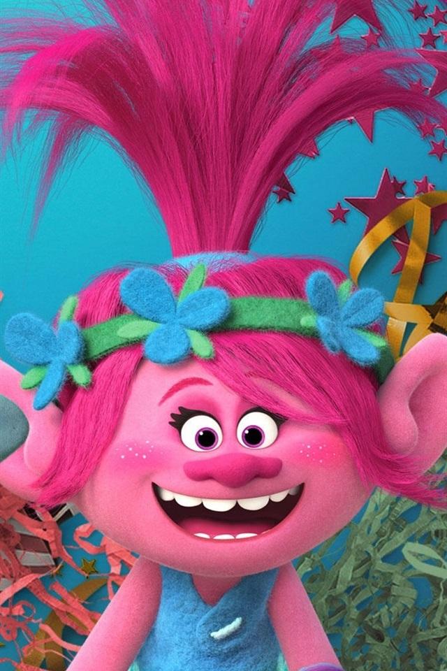 DreamWorks movie, Trolls 640x960 iPhone 4/4S wallpaper