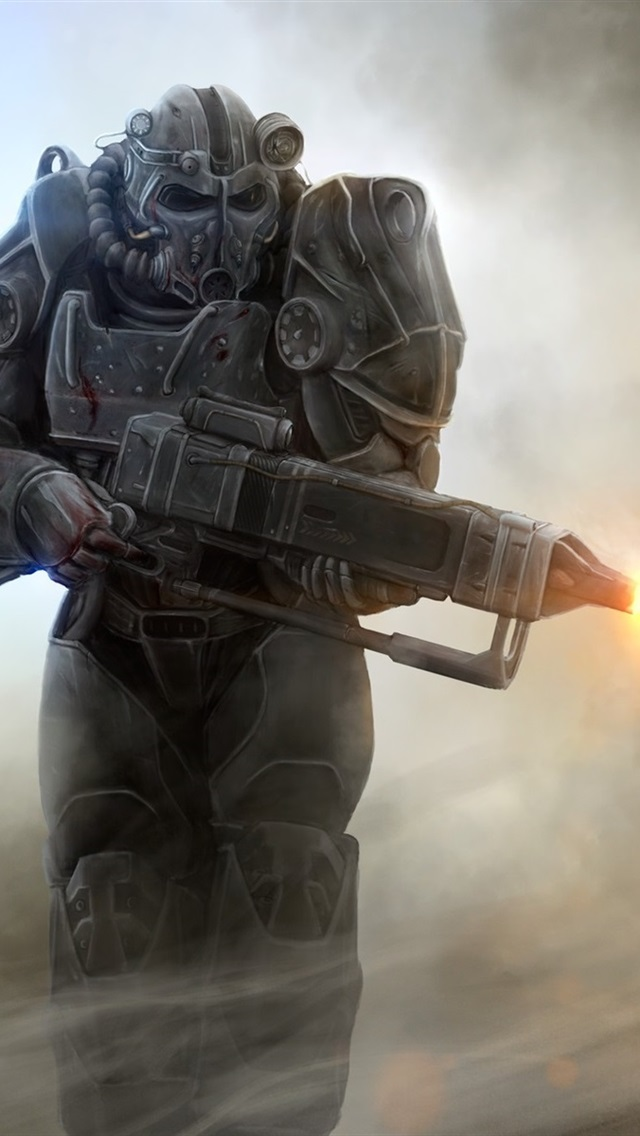 Fallout 4 Soldier 640x1136 Iphone 5 5s 5c Se Wallpaper