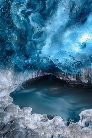iPhone Wallpaper Glacier, snow, ice, water