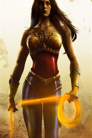 Injustice Gods Among Us Heroes Girl Batman 640x1136 Iphone 5 5s 5c Se Wallpaper Background Picture Image