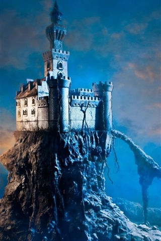 iPhone Wallpaper Lonely castle