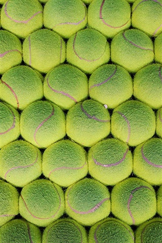 iPhone Wallpaper Many green tennis