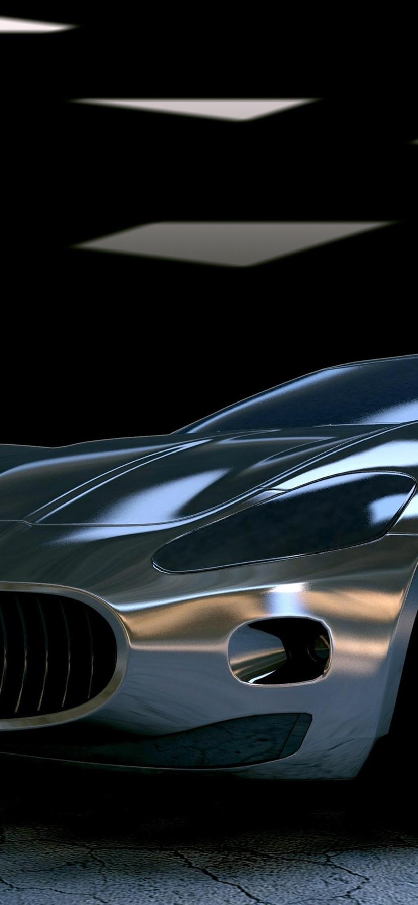 マセラティgtスーパーカー正面図 1080x1920 Iphone 8 7 6 6s Plus 壁紙