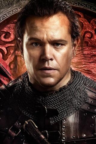 iPhone Wallpaper Matt Damon, The Great Wall