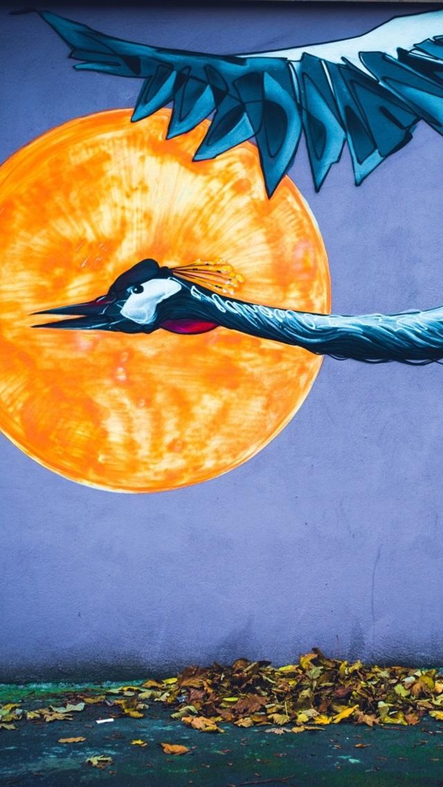 Phoenix Sun Leaves Art Picture 640x1136 Iphone 5 5s 5c Se