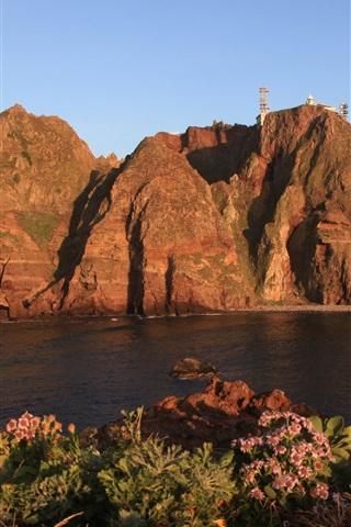 iPhone Wallpaper South Gyeongsang Province, Korea, Dokdo, rocks, island, sea