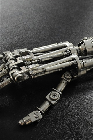iPhone Wallpaper Terminator cyborg T-800 arm