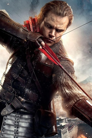 iPhone Wallpaper The Great Wall 2016, Matt Damon