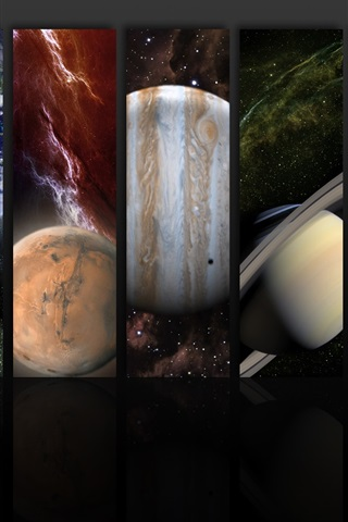 iPhone Wallpaper The planets of the solar system