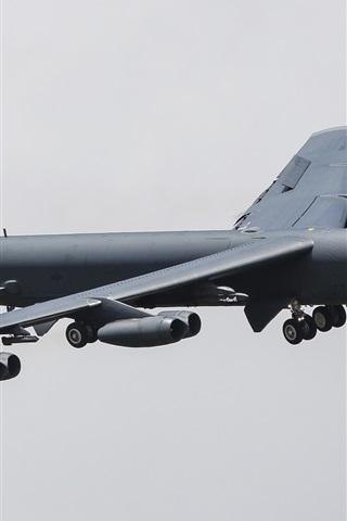 iPhone Wallpaper Boeing B-52H strategic heavy bomber flight