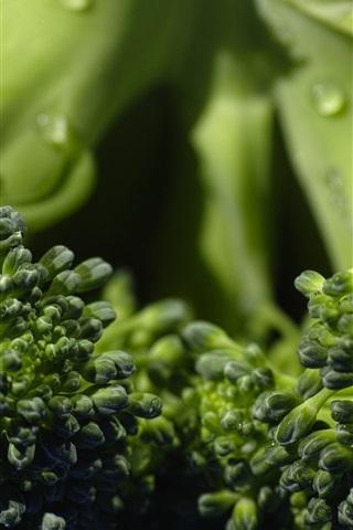 iPhone Wallpaper Broccoli, green vegetables