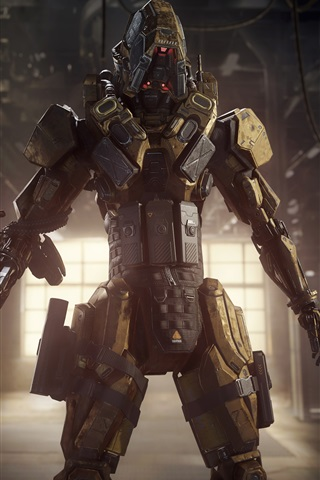 iPhone Papéis de Parede Call of Duty: Black Ops III, soldado robô