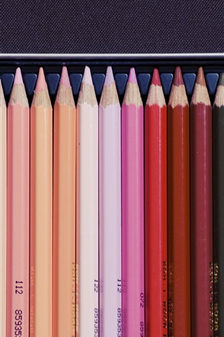 iPhone Wallpaper Colorful pencils, drawing tool