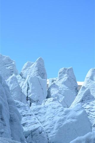 iPhone Wallpaper Glacier, snow mountain, cold