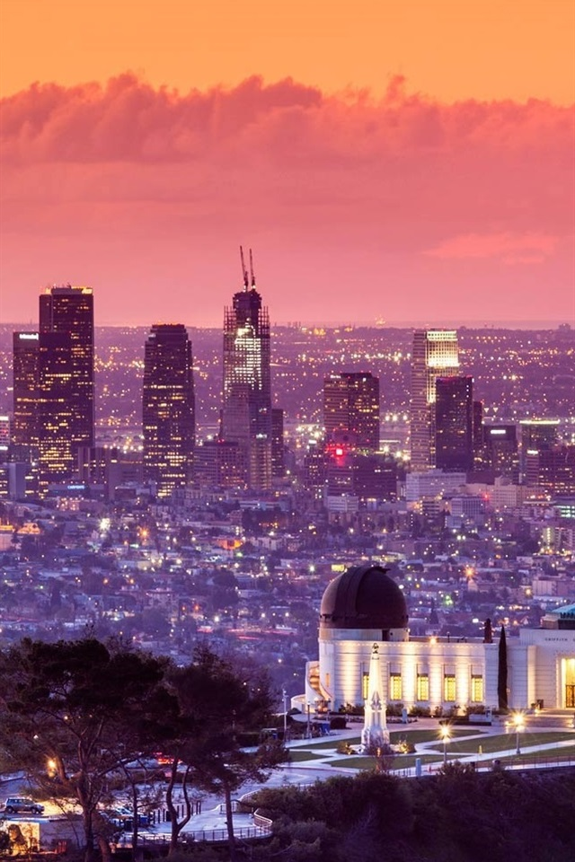 Wallpaper Griffith Park Los Angeles Usa City Night