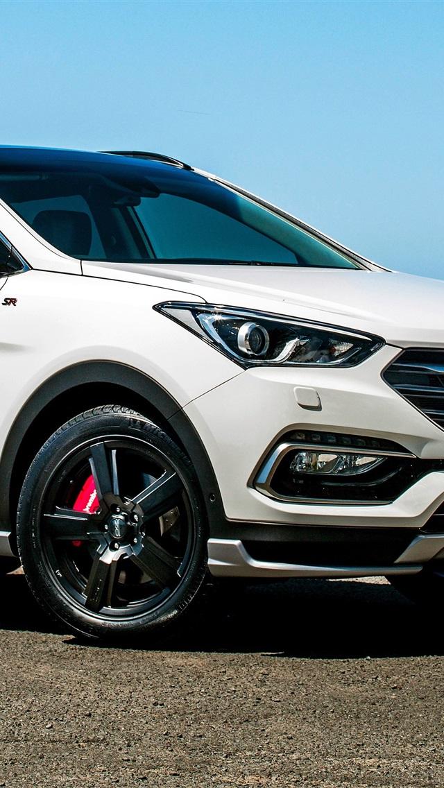 Fonds D 233 Cran Hyundai Santa Fe Blanc Vue Lat 233 Rale Suv