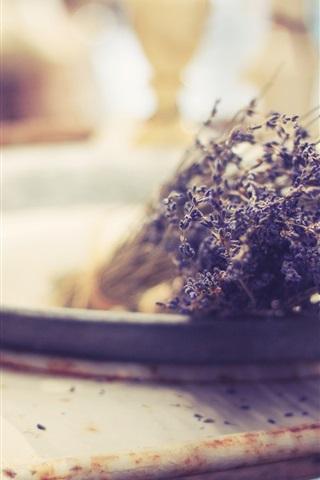 iPhone Wallpaper Lavender flowers, bouquet, still life