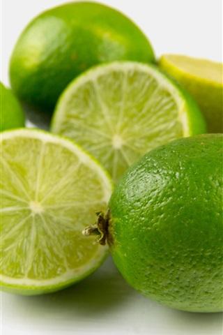 iPhone Wallpaper Lime, green lemon, fresh fruit