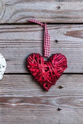 iPhone Wallpaper Love hearts, art, romantic
