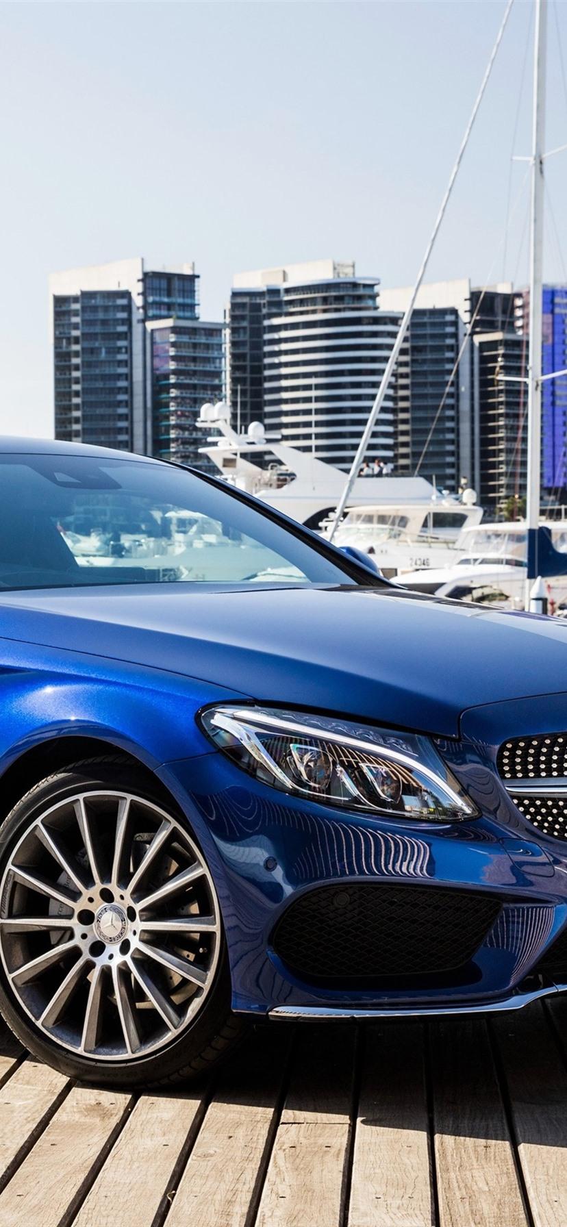 Mercedes Benz AMG C Class C21 blue Coupe 21x21 iPhone 21/21/21 ...