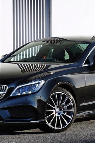 iPhone Wallpaper Mercedes-Benz AMG CLS 500 black car