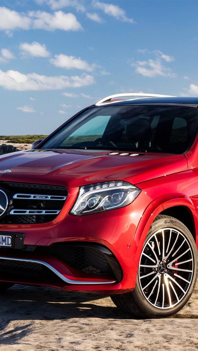 Mercedes Benz Amg Gt >> 壁纸 梅赛德斯 - 奔驰GLS-AMG X166红色SUV车 3840x2160 UHD 4K 高清壁纸, 图片, 照片