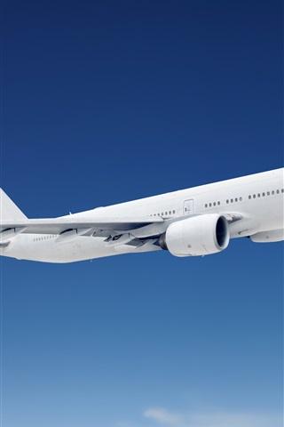 iPhone Wallpaper Passenger plane, flight, blue sky