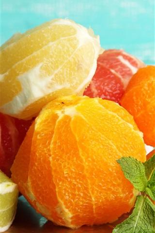 iPhone Wallpaper Peeled fruit, citrus, oranges