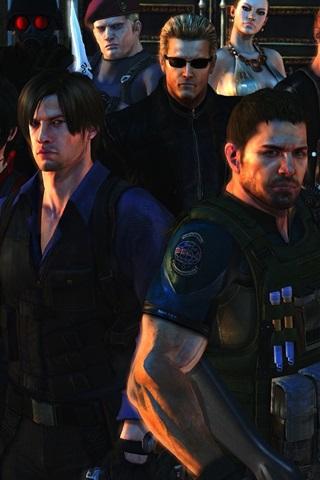 iPhone Papéis de Parede Resident Evil 6, personagens do jogo