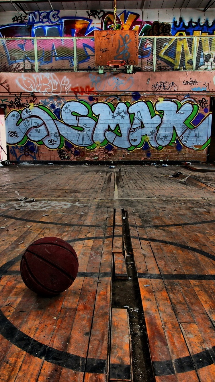 Sport Basketball Graffiti 750x1334 Iphone 8 7 6 6s Wallpaper Background Picture Image