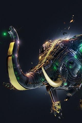 3d Abstract Elephant Creative Design 750x1334 Iphone 8 7 6