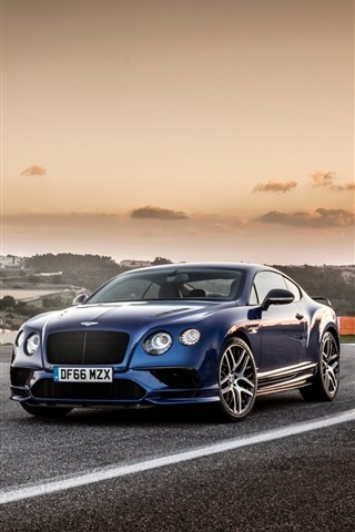 Bentley Brown And Blue Cars 640x960 Iphone 4 4s Wallpaper