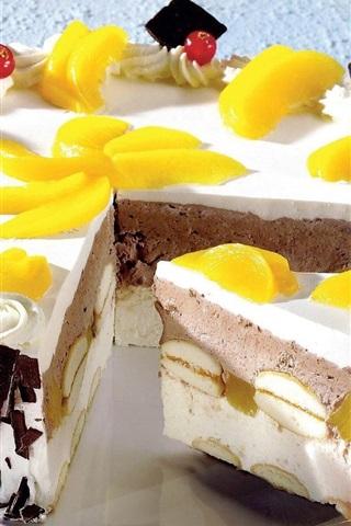 iPhone Wallpaper Chocolate sandwich cake