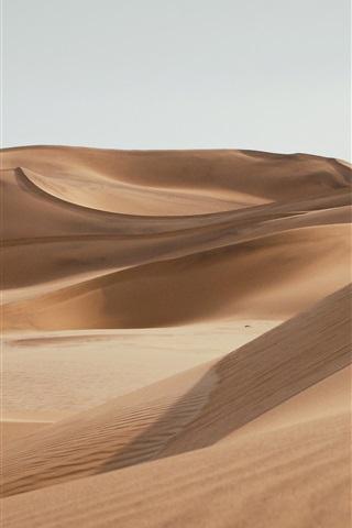 iPhone Wallpaper Emptiness desert, sands