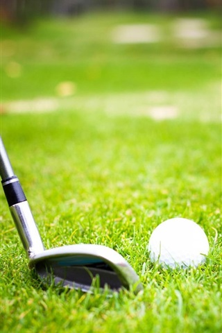 Golf Ball Grass 640x1136 Iphone 5 5s 5c Se Wallpaper Background Picture Image