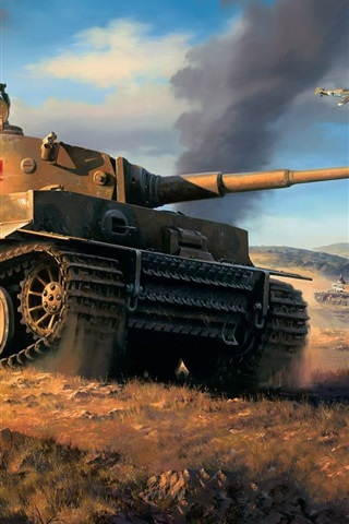 iPhone Wallpaper North Africa, tanks