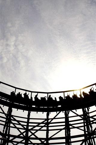 iPhone Wallpaper Roller coaster, recreational facilities