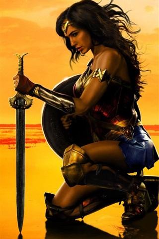 iPhone Wallpaper Wonder Woman, Gal Gadot, DC comics